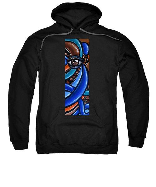Abstract Eye Art Acrylic Eye Painting Surreal Colorful Chromatic Artwork Sweatshirt