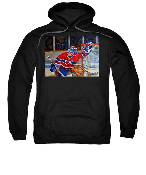 Goalie Makes The Save Stanley Cup Playoffs Sweatshirt