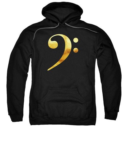 Golden Baseline Beat Bass Clef Music Symbol Sweatshirt