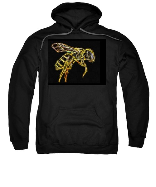 Golden Honey Bee Fractalized Sweatshirt