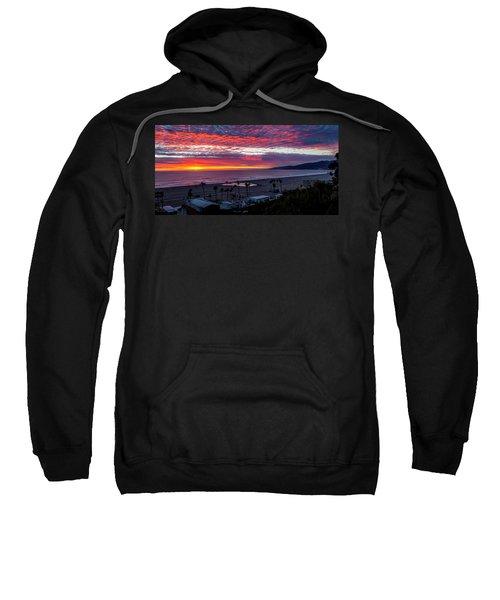 Golden Horizon At Sunset -  Panorama Sweatshirt