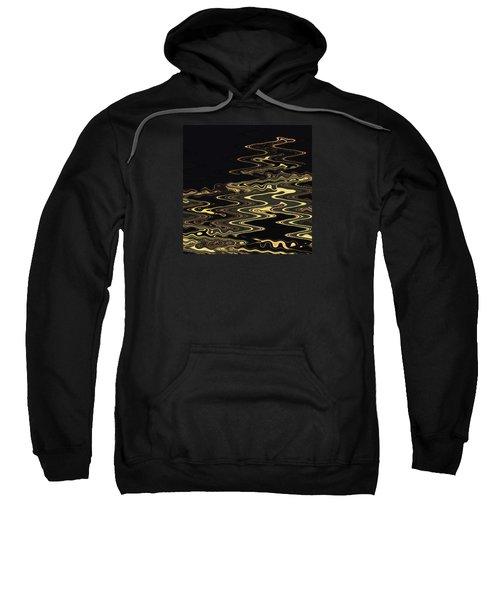 Golden Shimmers On A Dark Sea Sweatshirt