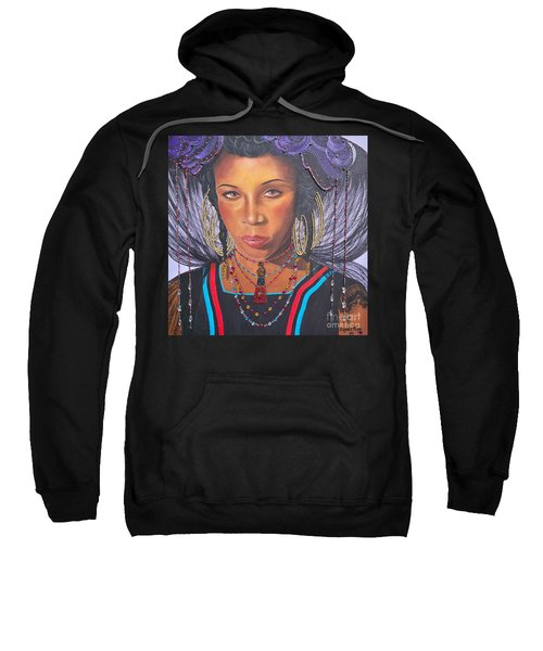 Gracious Golden Wodaabe Girl           From The Attitude Girls  Sweatshirt