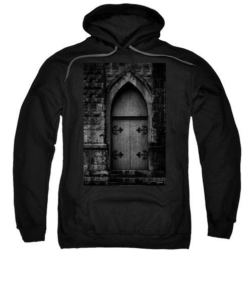 Gothic Door Memphis Church Bw Sweatshirt