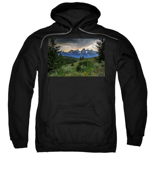 Sweatshirt featuring the photograph Grand Stormy Sunset by David Chandler