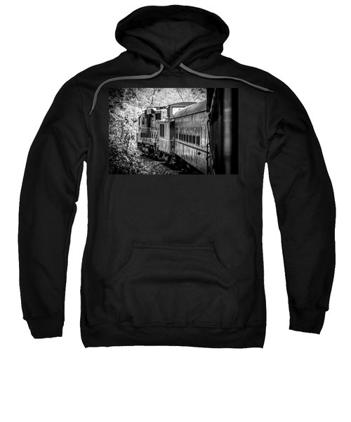 Great Smokey Mountain Railroad Looking Out At The Train In Black And White Sweatshirt