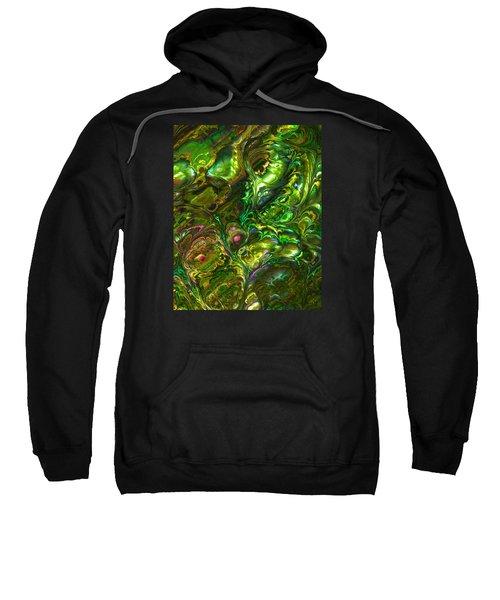 Green Abalone Abstract Sweatshirt