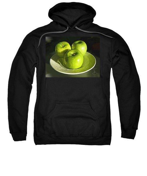 Green Apples In A White Bowl Sweatshirt