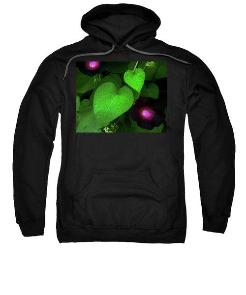 Green Leaf Violet Glow Sweatshirt