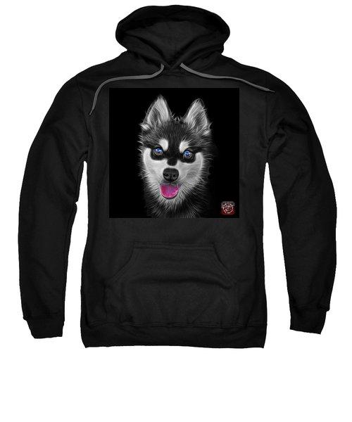 Greyscale Alaskan Klee Kai - 6029 -bb Sweatshirt