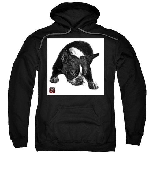 Greyscale Boston Terrier Art - 8384 - Wb Sweatshirt