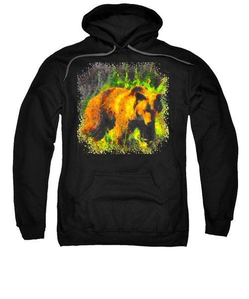 Grizzly In Field Sweatshirt
