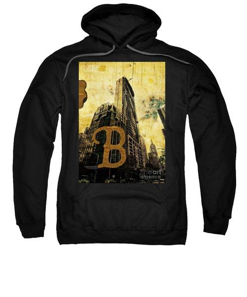 Grungy Melbourne Australia Alphabet Series Letter B Central Busi Sweatshirt