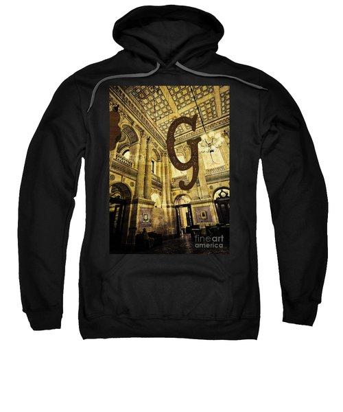 Grungy Melbourne Australia Alphabet Series Letter G Government P Sweatshirt
