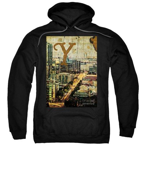 Grungy Melbourne Australia Alphabet Series Letter Y Yarra River Sweatshirt