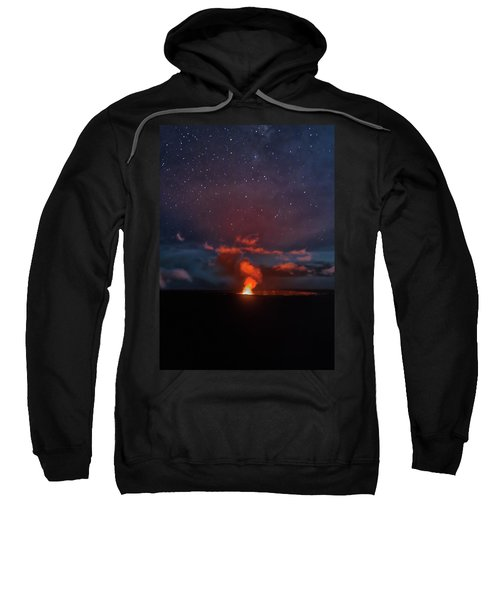 Halemaumau Crater At Night Sweatshirt