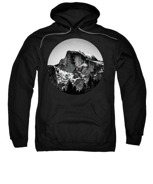 Half Dome Aglow, Black And White Sweatshirt by Adam Morsa