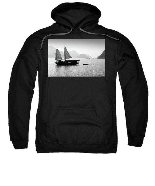 Halong Bay Black And White Sweatshirt
