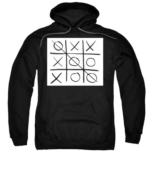 Hand-drawn Tic-tac-toe Game Sweatshirt