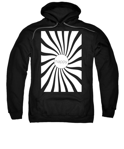 Happy - Black And White Swirl Sweatshirt