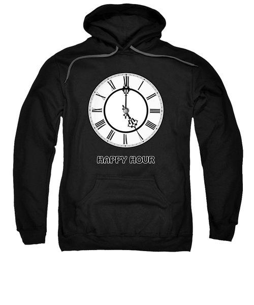 Happy Hour - On Black Sweatshirt