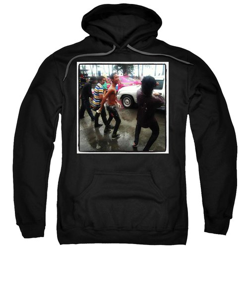 Sweatshirt featuring the photograph Happy Songkran. The Water Splashing by Mr Photojimsf