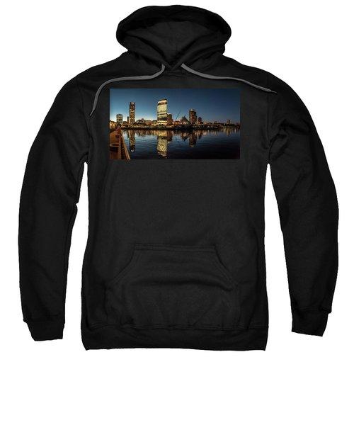 Sweatshirt featuring the photograph Harbor House View by Randy Scherkenbach