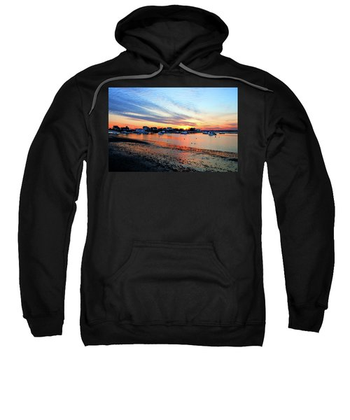 Harbor Sunset At Low Tide Sweatshirt
