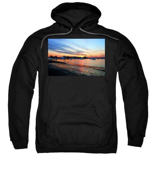 Harbor Sunset At Low Tide Sweatshirt