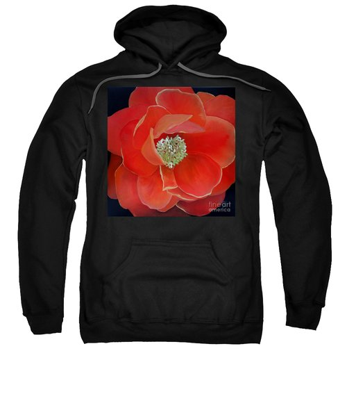 Heart-centered Rose Sweatshirt