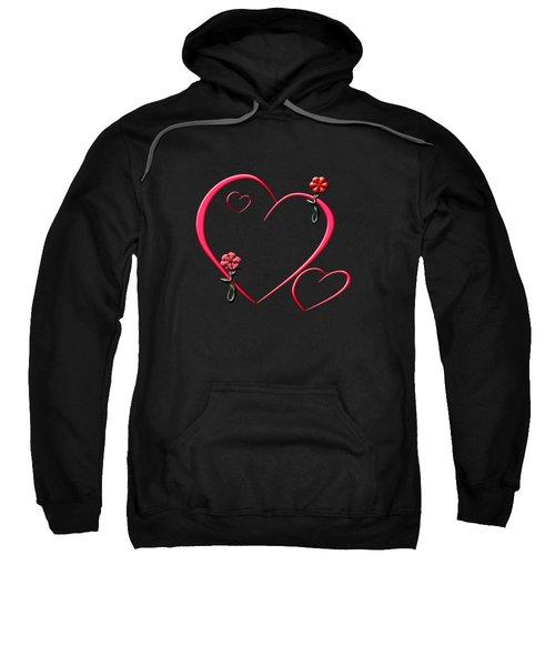 Hearts And Flowers Sweatshirt