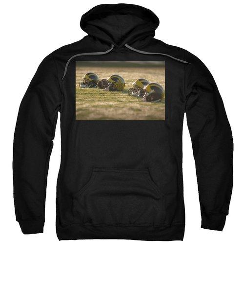 Helmets In Golden Dawn Sunlight Sweatshirt