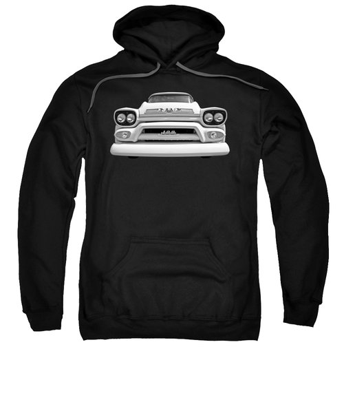 Here Comes The Sun - Gmc 100 Pickup 1958 Black And White Sweatshirt