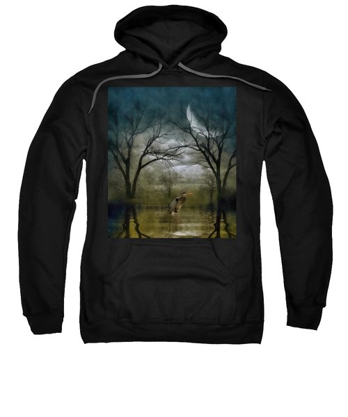 Heron By Moon Glow  Sweatshirt