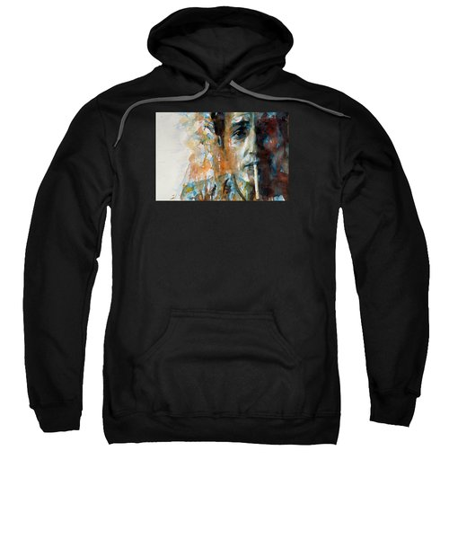 Hey Mr Tambourine Man @ Full Composition Sweatshirt by Paul Lovering