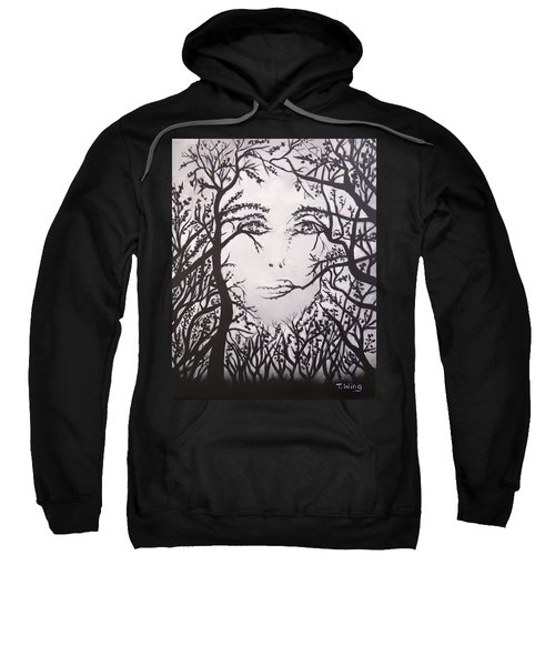 Hidden Face Sweatshirt by Teresa Wing