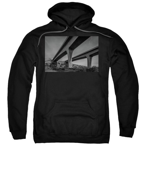Highway 52 Over Spring Canyon, Black And White Sweatshirt