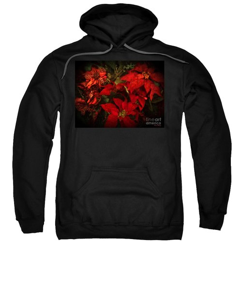 Holiday Painted Poinsettias Sweatshirt