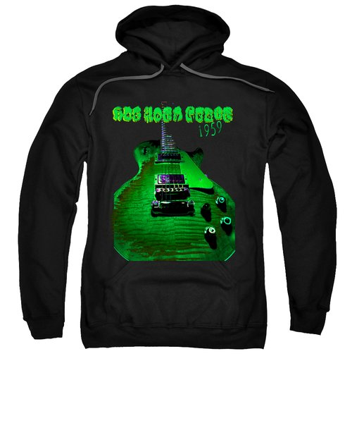 Sweatshirt featuring the photograph Holy Grail 1959 Retro Relic Guitar by Guitar Wacky