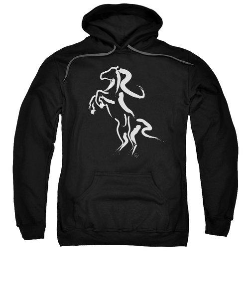 Horse -black And White Beauty Sweatshirt