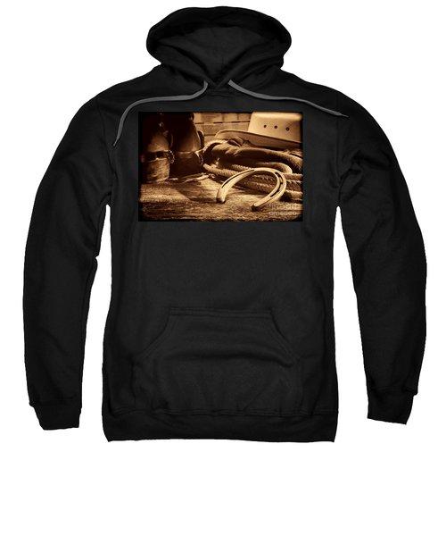 Horseshoe And Cowboy Gear Sweatshirt