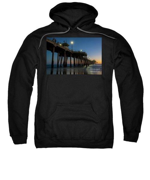 Huntington Beach Pier At Dusk Sweatshirt