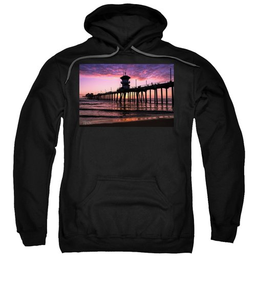 Huntington Pier At Sunset 2 Sweatshirt
