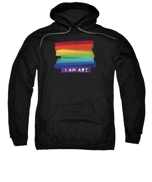 I Am Art Rainbow Stripe- Art By Linda Woods Sweatshirt