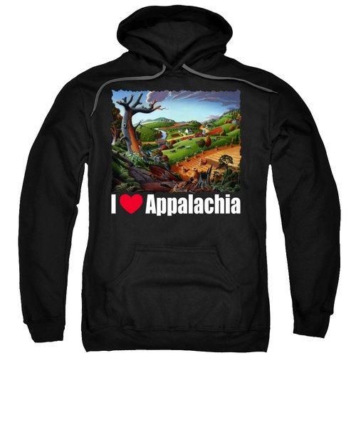 I Love Appalachia T Shirt - Autumn Rural Wheat Harvest Farm Landscape Sweatshirt