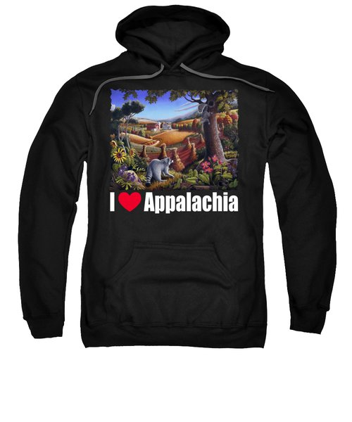 I Love Appalachia T Shirt - Coon Gap Holler 2 - Country Farm Landscape Sweatshirt by Walt Curlee