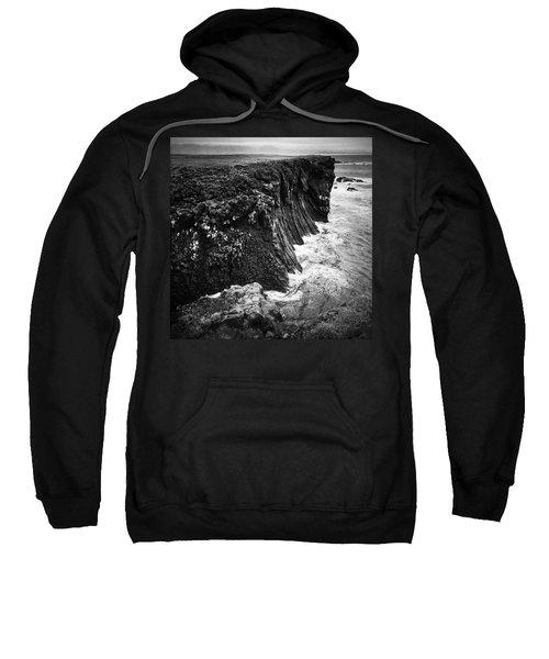Iceland Coast Black And White Sweatshirt