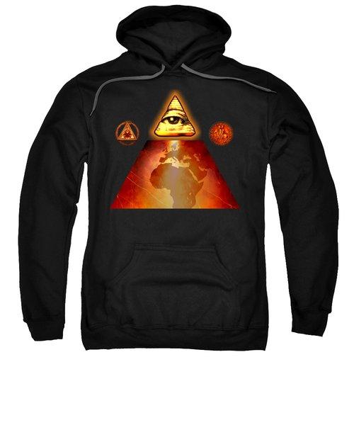 Illuminati World By Pierre Blanchard Sweatshirt by Pierre Blanchard