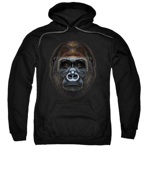Illustrated Portrait Of Gorilla Male. Sweatshirt by Altay Savrukov