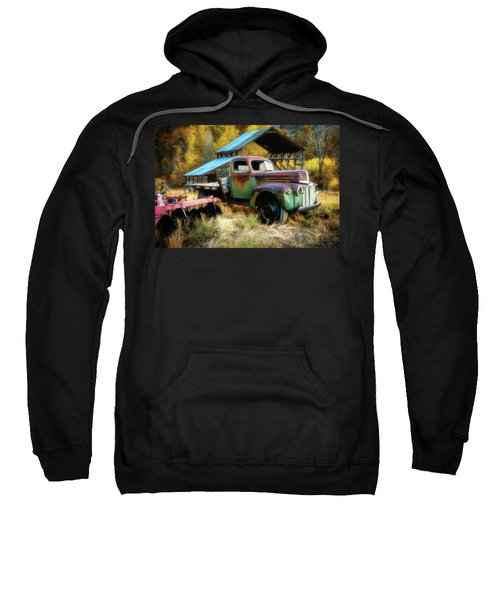 In The Autumn Of Life - 1945 Ford Flatbed Truck Sweatshirt